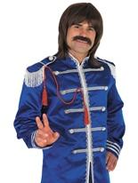 Pop sergent bleu Costume Déguisement Hippie Homme