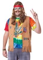 Hippie Plus taille Costume Déguisement Hippie Homme