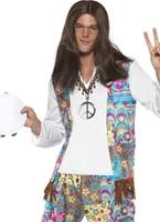 Costume de Hippie des années 60 Mens Déguisement Hippie Homme