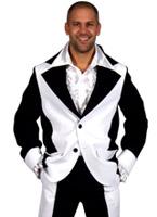 Costume noir et blanc de mens Déguisement Hippie Homme
