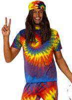 1960 tie Die Costume Déguisement Hippie Homme