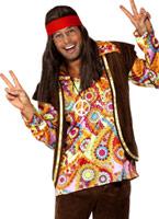 Costume hippie psychédélique des années 1960 Déguisement Hippie Homme