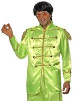 60 Sergent Pepper Costume vert Déguisement Hippie Homme