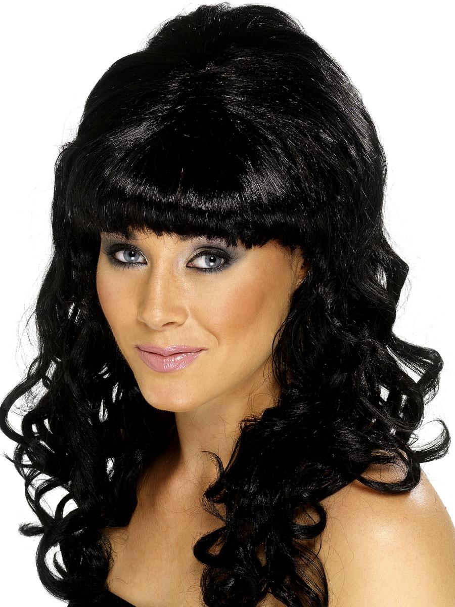 Perruque Hippie Ruche Beauty perruque noir
