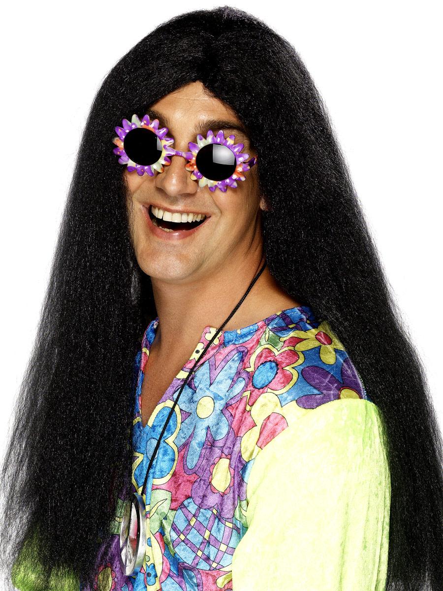 Perruque Hippie Hippy perruque noir