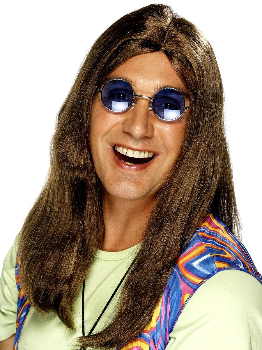 Perruque Hippie Perruque de Neil longue ligne droite brun