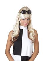 Blonde et brune des années 60 bosse perruque Perruque Hippie
