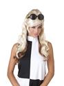 Perruque Hippie Blonde et brune des années 60 bosse perruque