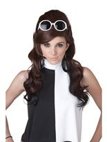 60 ' s marron et noir bosse perruque Perruque Hippie