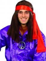 Kit de hippie des années 60 Perruque Hippie