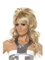 Perruque Hippie Perruque Bouffant de Reine de beauté des années 60