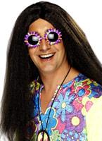 Brown perruque hippie Perruque Hippie