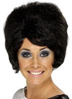 60 ' s Beehive perruque noir Perruque Hippie