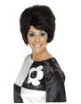 Perruque Hippie 60 ' s Beehive perruque noir