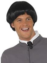 Bol court 60 ' s Style perruque noir Perruque Hippie