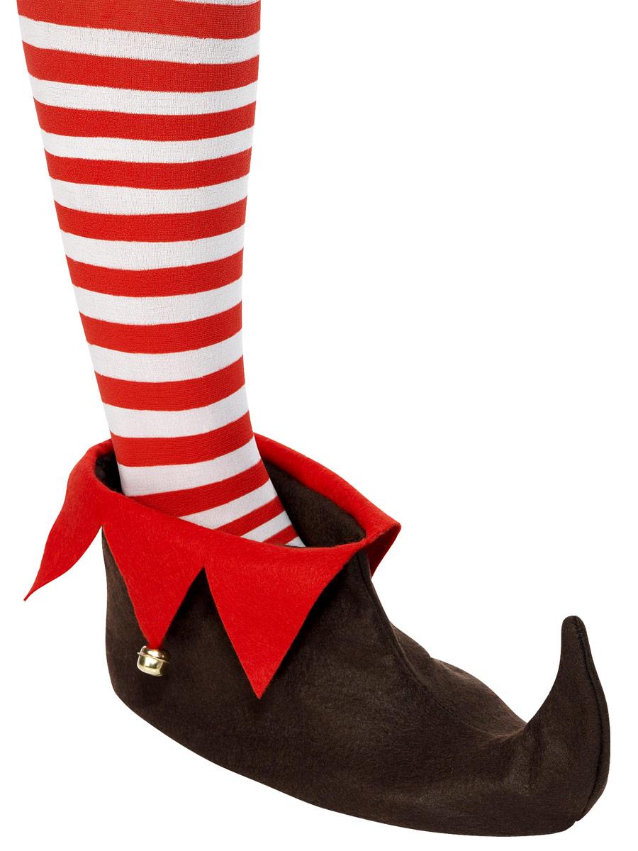 Accessoires de Noël Elf Chaussures Brown & rouge