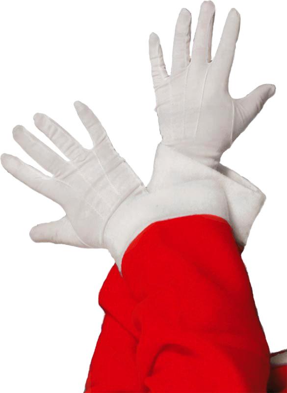 Accessoires de Noël Santa gants blanc tissu