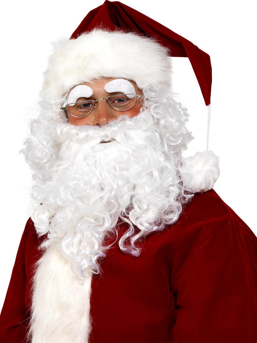 Santa Sourcils Fourrure Blanche Tissu Accessoires De No L