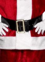 Grand Santa ceinture avec boucle en or noir Accessoires de Noël