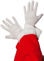 Santa gants blanc tissu Accessoires de Noël