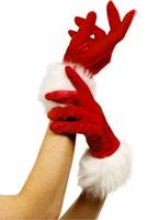 Santa gants rouge Accessoires de Noël