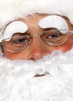 Santa sourcils fourrure blanche tissu Accessoires de Noël