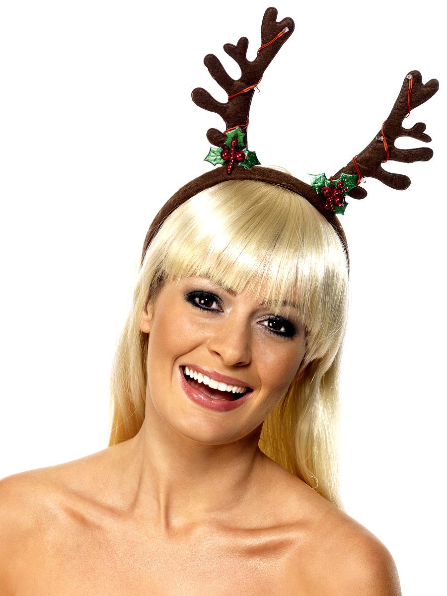 Chapeaux de Noël Clignotant bandeau bois