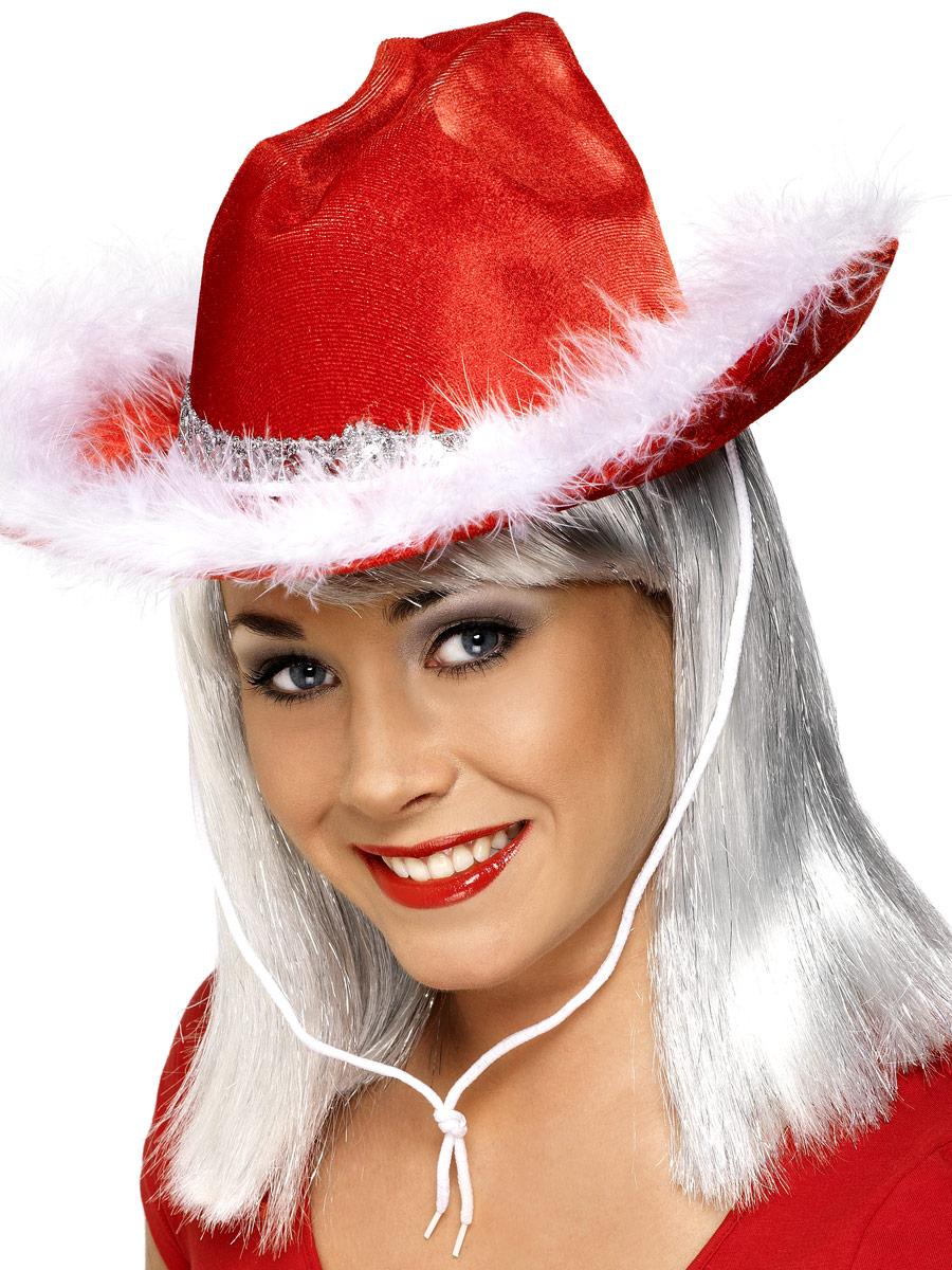 Chapeaux de Noël Noël chapeau de cow-boy rouge