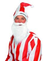 Ensemble de Hat & barbe rouge et blanc Chapeaux de Noël