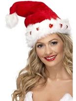 Deluxe peluche bonnet de Noel lumineux Chapeaux de Noël