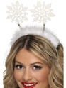 Chapeaux de Noël Flocon de neige Boppers blanc