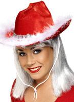 Noël chapeau de cow-boy rouge Chapeaux de Noël