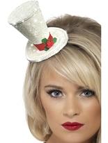 Chapeau haut de forme blanc Noël Chapeaux de Noël