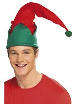 Chapeau de lutin vert rouge Chapeaux de Noël
