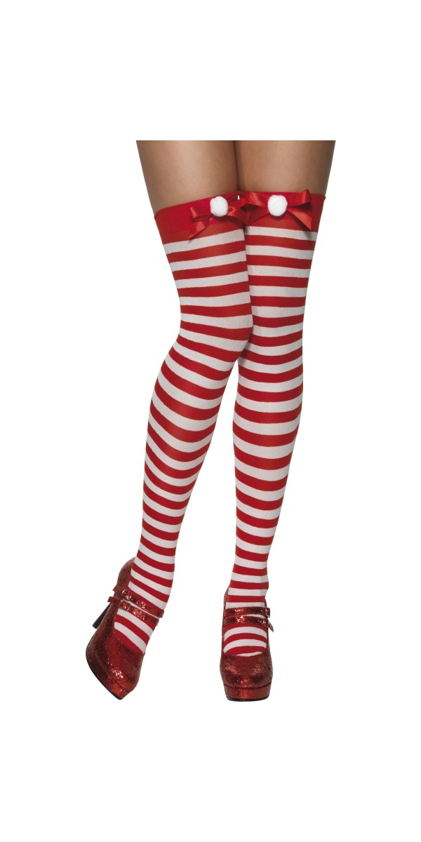 Chaussettes de Noël Bas rayés avec Pom Pom