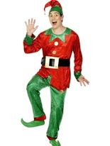 Costume elfe vert Costume rouge Costume Elf