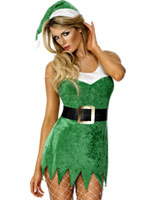 Santas Sexy Little Helper Costume Elf