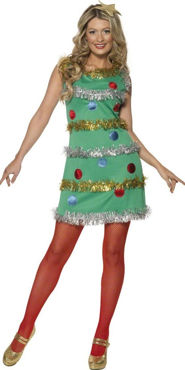 Costume Mère Noël Arbre de Noël Costume