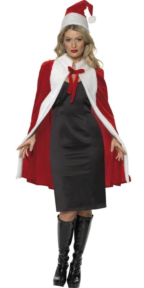Costume Mère Noël Cape de Noël de luxe