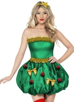 Fièvre Tree Festival Costume Costume Mère Noël