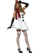 Costume sexy de bonhomme de neige Costume Mère Noël