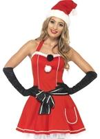Pom Pom Santa Costume Costume Mère Noël