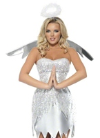 Costume ange Shimmer fièvre Costume Mère Noël