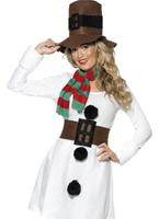 Miss Costume de bonhomme de neige Costume Mère Noël