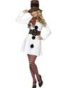 Costume Mère Noël Miss Costume de bonhomme de neige