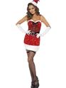 Costume Mère Noël Costume de Santa de paillettes