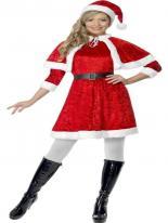 Costume de Miss Santa Costume Mère Noël