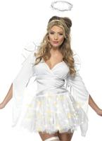 La fièvre s'illuminent Costume d'ange Costume Mère Noël