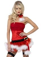 Fièvre méchant Santa Costume Costume Mère Noël