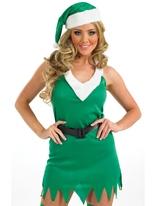 Costume Elf affectueux Costume Mère Noël